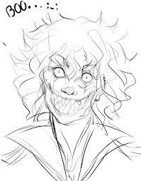 scary clown allen sketch by garfie100 on deviantart