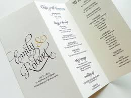 folded wedding program folding programs carbon materialwitness co
