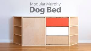 Modern Dog Furniture by Diy Modern Dog Bed Woodworking Youtube