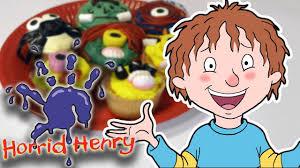 horrid henry how to make halloween cakes youtube