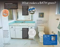 what makes a bathroom green