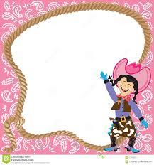 art birthday invitations cute cowgirl birthday party invitation stock photography image