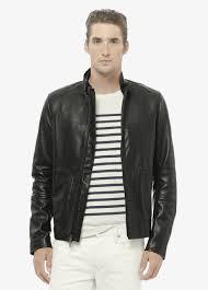 leather moto jacket vince modern leather moto jacket in black for men lyst