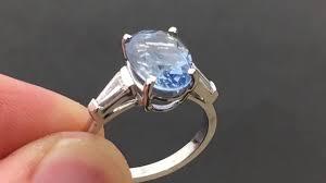 light blue sapphire engagement rings 5 carat light blue sapphire platinum ring hh472