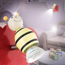 spot chambre enfant abeille projecteur mural led enfant multicolore le luminaire