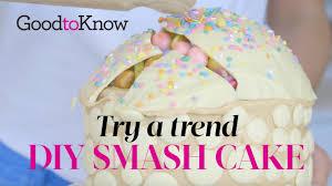 chocolate smash cake recipe goodtoknow
