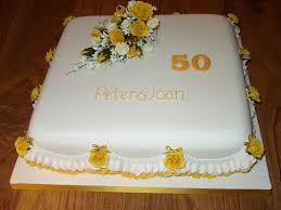 golden wedding anniversary cake with rose spray susie u0027s cakes