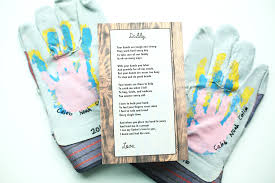 handprint work gloves and poem for father s day