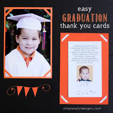 graduation thank you card easy graduation thank you cards and last day of preschool layout