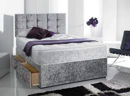 fast delivery good quality crushed velvet bed luxury mattress