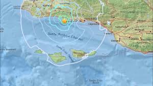 Santa Barbara Map Earthquake California M4 1 Off Coast Santa Barbara Los Angeles