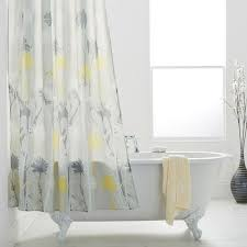 Grey And Yellow Shower Curtains Daizy Shower Curtains Grey And Yellow Bathstore