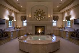 Bathrooms Fancy Classic White Bathroom by Bathroom Exotic White Fireplace In Bathroom Decor With Oval