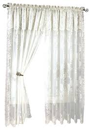 Criss Cross Curtains Drapes With Attached Valance Panels With Attached Valances Criss