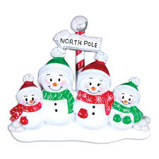 ornaments snowman family of 4 ornament