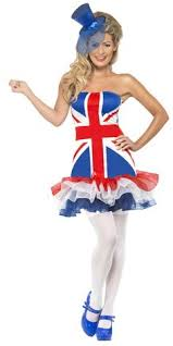 Ginger Spice Halloween Costume Hypnotic Lace Dress Union Jack Rule Britannia Flags