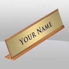 gold nameplate gold desk name plate the finer line inc