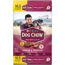 amazon com purina dog chow tender and crunchy dry dog food