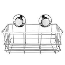 strong suction cups bath shelf shower caddy rust free stainless