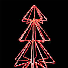 120v 3 wire green bi color led rope light tree 3d