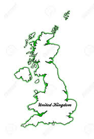 Map Of Ireland And England by Outline Map Of The United Kingdom Of England Scotland Northern