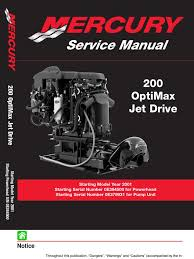 8369382 mercury mariner 200hp optimax jet drive service manual