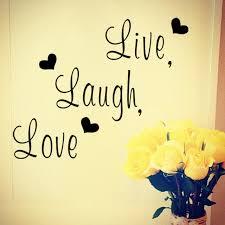 aliexpress com buy live laugh love inspirational quote vinyl