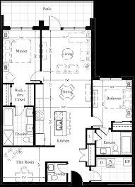 2 Bedroom Condo Floor Plan Suite 105 1 270 Sq Ft 2 Bedroom New Condo Floor Plan