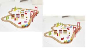 carousel train table set expired carousel wooden 60 piece train set 8 99 tesco direct