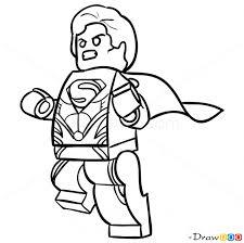 draw superman lego super heroes