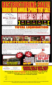Tent Sale Blue Ridge Furniture - Blue ridge furniture