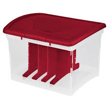 sterilite adjustable ornament storage box