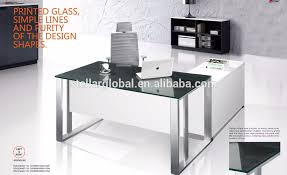Office Desk With Glass Top Executive Table With Glass Top Executive Table With Glass Top