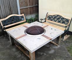 patio dining sets with fire pits diy gas fire pit table dining table