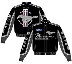 ford mustang jacket 2017 ford mustang racing jacket collage mens black twill jacket by