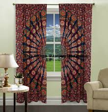 Hippie Curtains To Cheer Up Your Room Indian Bohemian Decorative Curtains Window Drapery Wall Tapestry