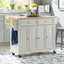 august grove comte kitchen cart island with natural wood top