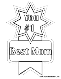 1 best mom award mothers day coloring pages diy mother u0027s day