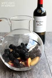 blackberry plum sangria white lights on wednesday