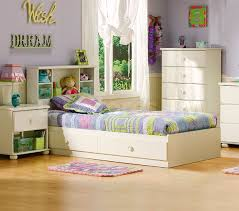minimalist shabby chic girls bedroom ideas with beige bed
