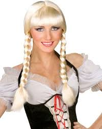 halloween costume wigs amazon com blonde inga cowgirl pigtails halloween costume wig