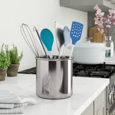 kitchen utensil canister utensil crocks holders you ll wayfair