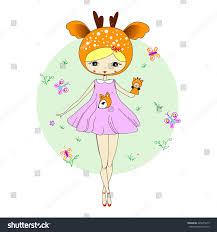 halloween background for kids cute little suit deer toy stock vector 429655015 shutterstock