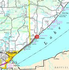 minnesota on map guide to two harbors minnesota