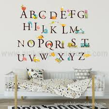 Alphabet Wall Decals For Nursery Alphabet Wall Decal Nursery Wall Decal Playroom Wall Decal