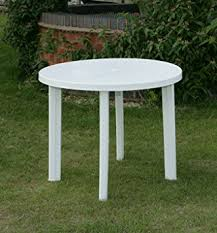 round resin patio table round garden table only in white resin patio furniture outdoor