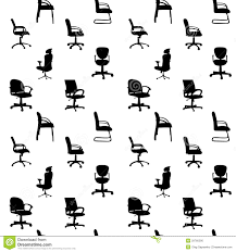 Pattern Chairs Seamless Pattern Of Office Chairs Silhouettes Stock Photo Image