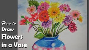 A Flower Vase How To Paint Flowers In A Vase With Oil Pastel Step By Step Youtube