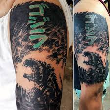 godzilla tattoo by sam warren art to wear permanently