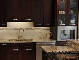 White Backsplash For Kitchen White Glass Tile Backsplash With Dark Cabinets Nyfarms Info